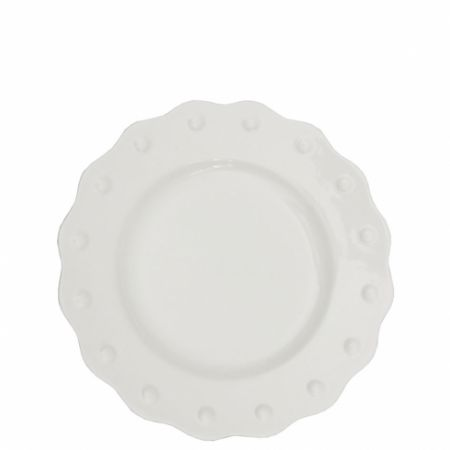 Dessert plate 19cm White Curved w.dots