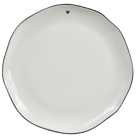 Dinner Plate white/edge black 27cm