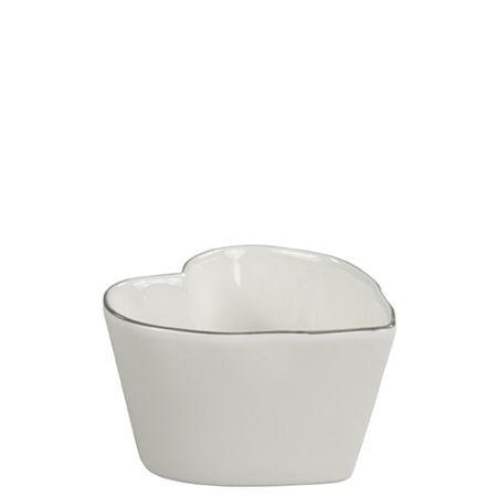 Heart Shape Bowl Small Edge Grey 10x10x6cm