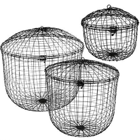 Basket wire Ass( 4xL40x40/M 30x30/S 20X20)Black