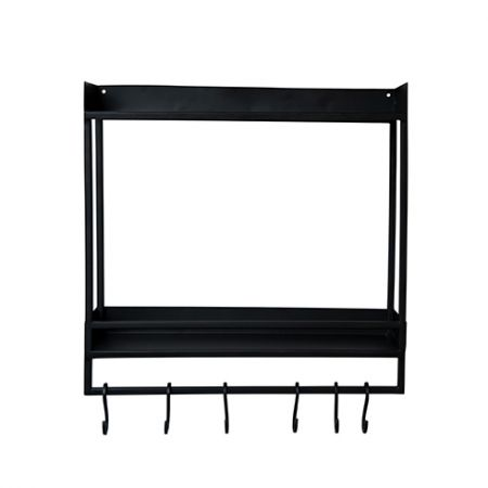 Two Layer Display in Black 43x45x12cm