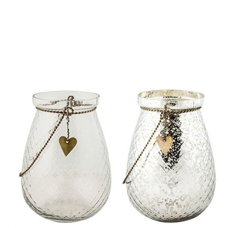Tealight Diamant / Poorman Silver Ass (2x4 Pieces) h 16 cm