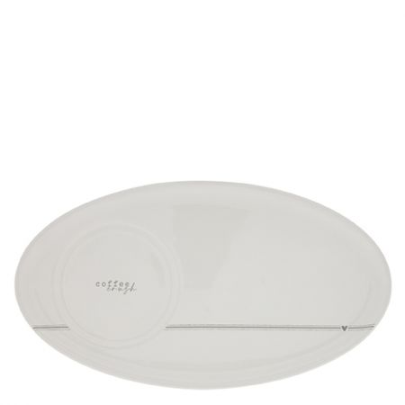 Oval Plate White / Coffee Crush Grey 25,5x14,5cmDouble function, 2 layers: fits Cup Small (7cm) & Mug (8cm)