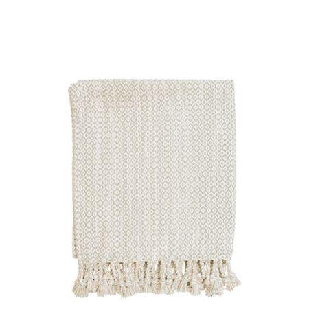 Plaid White/Naturel 140x180 cm