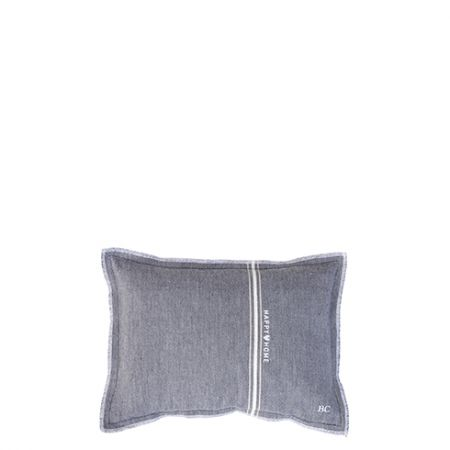 Cushion 25x35 Black Chambray Happy Home