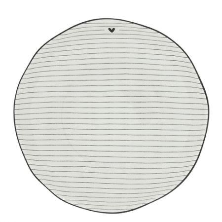 Soup or Pasta Plate Stripes /edge Black 21x5cm