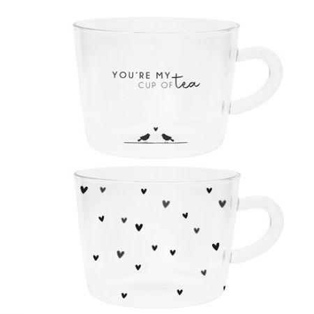 Tumbler Tea (2x12)youre my cup of tea/hearts 10x7cm