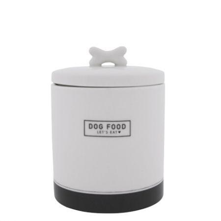 Jar Large Dog Food in Black 14x14x16.5cm
