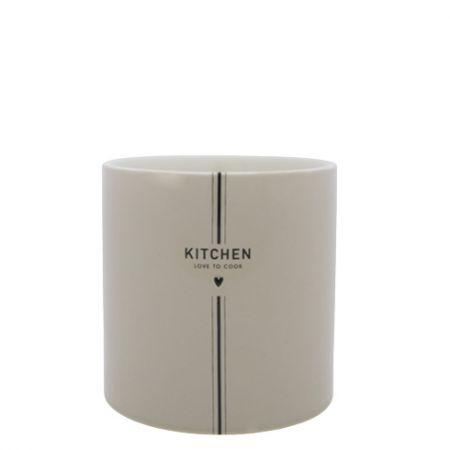 Utensil Jar White KITCHEN in Titane 14.5x 14.5cm