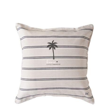Cushion 50x50 Naturel Chambray Little Palm Tree