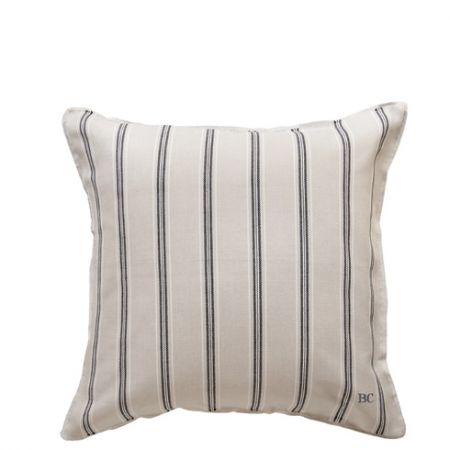 Cushion 50x50 Naturel Chambray Stripes