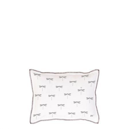 Cushion 25x35 White Chambray little Dragon Fly