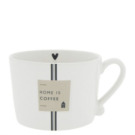 Cup White/Home is Coffee 10x8x7cm