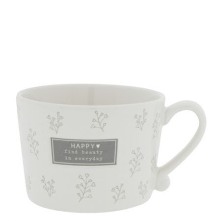 Cup White/Find Beauty in everyday in Grey10x8x7cm