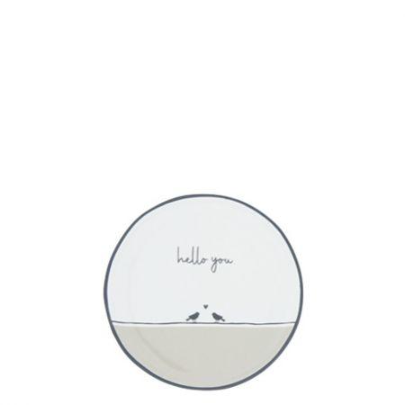Teatip 9cm White/Birds Hello you