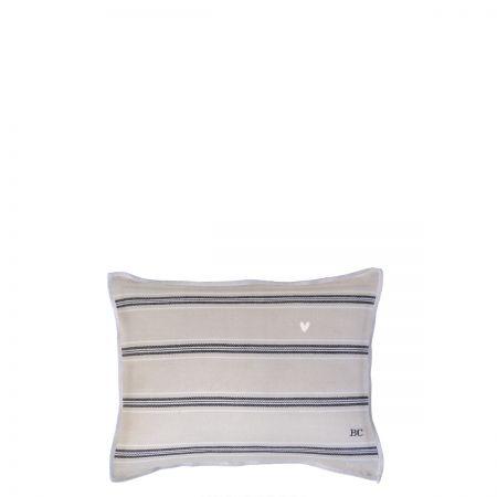 Cushion 25x35 Naturel Chambray Stripes 2