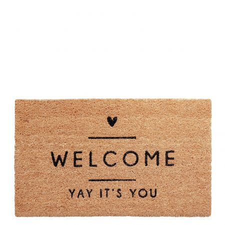 Doormat 45x75 cm Yay it's you