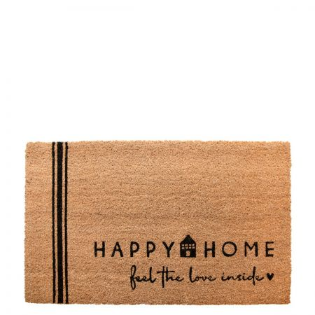 Doormat 45x75 cm Happy Home (recommended for indoors)