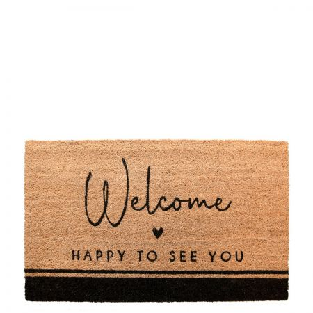 Doormat 45x75 cm Happy to see you (recommended for indoors)