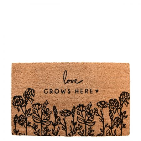 Doormat 45x75 cm Love Grows Here (recommended for indoors)