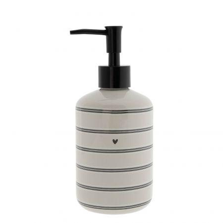 Soap Dispenser Titane/Stripes 18x8cm