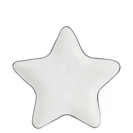 Star plate 16cm with Black edge