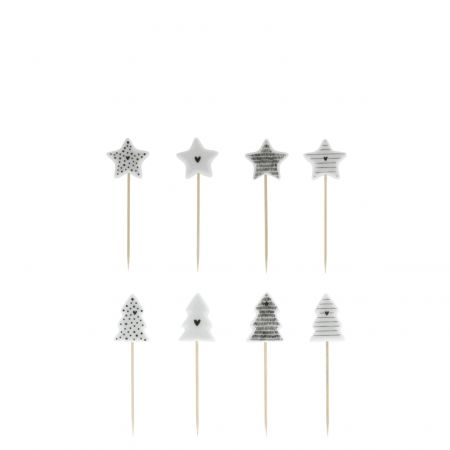 Tapas Sticks Christmas White/BL  Ass 6x6