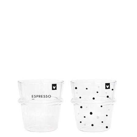 Espresso Glass (2x12) Dots & Espresso 62x44x66mm