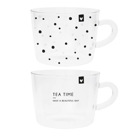 Tumbler Tea (2x12) Dots & Tea Time10x7cm