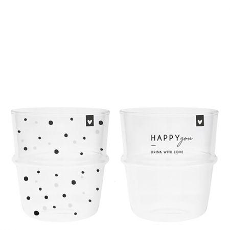 Tumbler Water(2x12) Happy You & Dots Dia 8.5x9cm