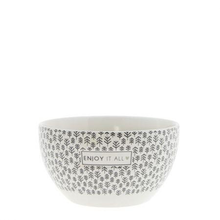 Bowl White/Enjoy it All Dia 13x7cm