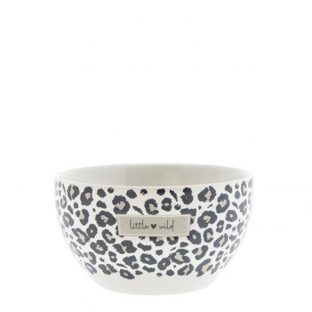 Bowl White/Leopard Little Wild