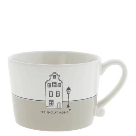 Cup White/Feeling at Home 10x8x7 cm