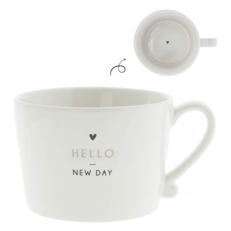 Cup White/Hello New Day 10x8x7 cm