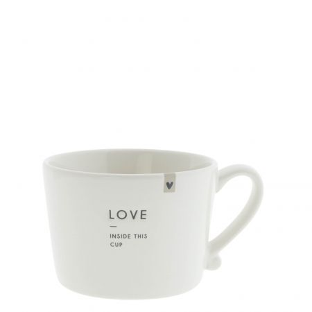 Cup White sm / Love inside this cup 8.5x7x6cm