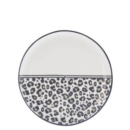 Dessert Plate19cm / Leopard Heart