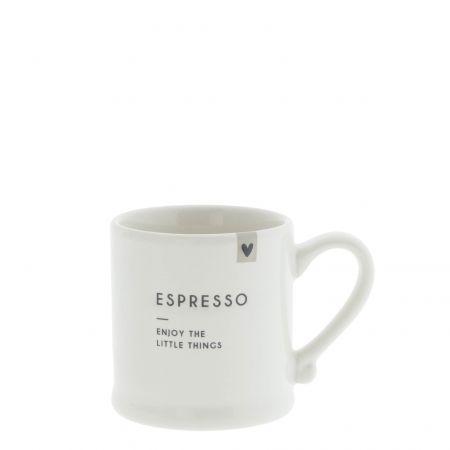 Espresso White/Enjoy the little things 5,4x6,2cm