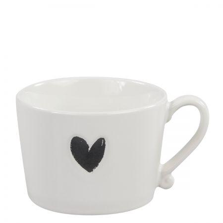 Mug White/Heart in Black