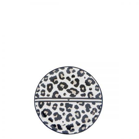 Teatip 9cm White/Leopard Heart