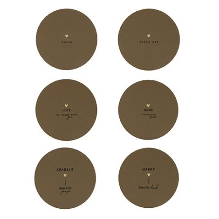 Coaster 6 designs Titane 10,5 x 10,5 cm