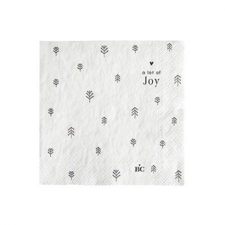 Napkin White/Tree Joy 20 pcs 12,5x12,5cm